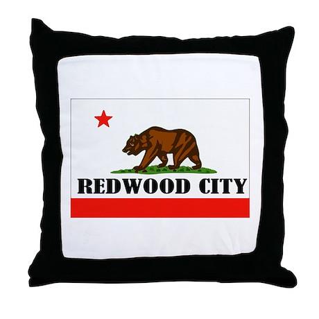 Redwood City,Ca -- T-Shirt Throw Pillow