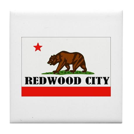 Redwood City,Ca -- T-Shirt Tile Coaster