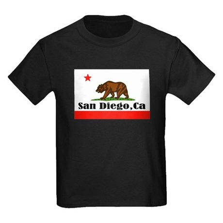 San Diego,CA -- T-Shirt Kids Dark T-Shirt
