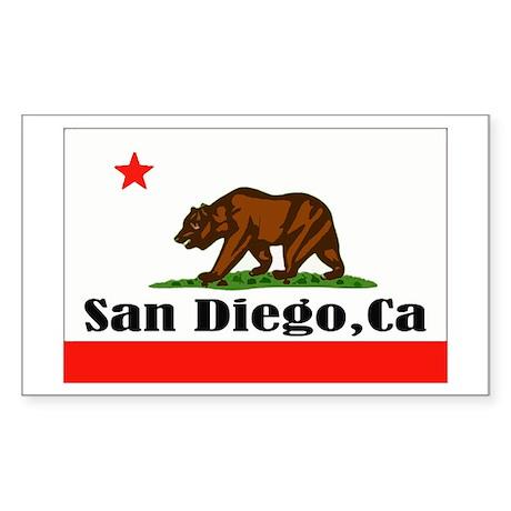 San Diego,CA -- T-Shirt Sticker (Rectangle)
