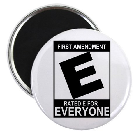 "1st Ammendment - 2.25"" Magnet (100 pack)"