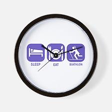 Sleep Eat Biathlon Wall Clock