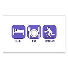 Sleep Eat Biathlon Decal