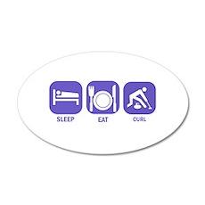 Sleep Eat Curl 22x14 Oval Wall Peel