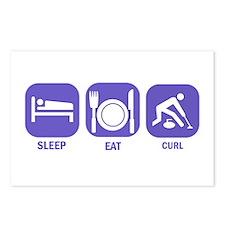 Sleep Eat Curl Postcards (Package of 8)