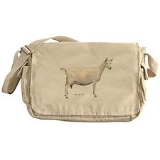 Saanen Dairy Goat Messenger Bag