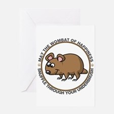 Wombat Of Happiness Greeting Card