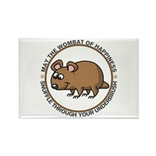 Wombat Of Happiness Rectangle Magnet