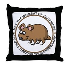 Wombat Of Happiness Throw Pillow