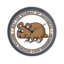 Wombat Of Happiness Wall Clock