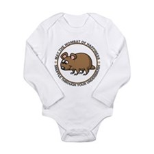 Wombat Of Happiness Long Sleeve Infant Bodysuit