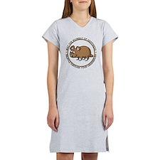 Wombat Of Happiness Women's Nightshirt