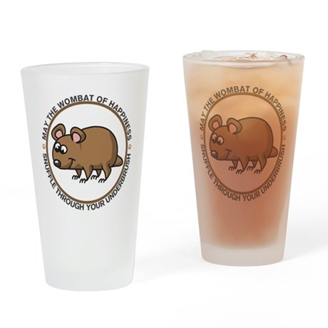 Wombat Of Happiness Drinking Glass