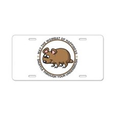 Wombat Of Happiness Aluminum License Plate