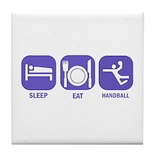 Sleep Eat Handball Tile Coaster