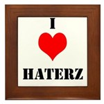 I LUV HATERZ GEAR Framed Tile