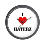 I LUV HATERZ GEAR Wall Clock