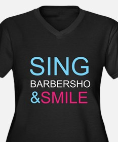 Sing Barbershop and Smile Women's Plus Size V-Neck