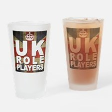 Cute Uk role players Drinking Glass