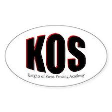 KOS Simple Black Oval Decal