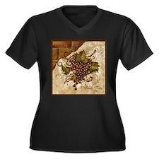 Best Seller Grape Women's Plus Size V-Neck Dark T-