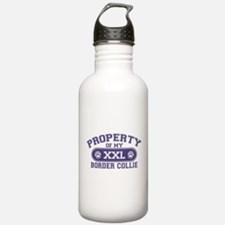 Border Collie PROPERTY Water Bottle