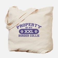 Border Collie PROPERTY Tote Bag