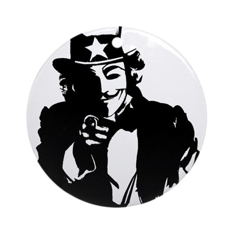 Anonymous Uncle Sam Ornament (Round)