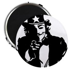 """Anonymous Uncle Sam 2.25"""" Magnet (10 pack)"""