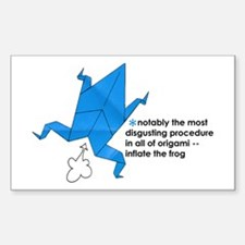 Origami Frog Rectangle Decal