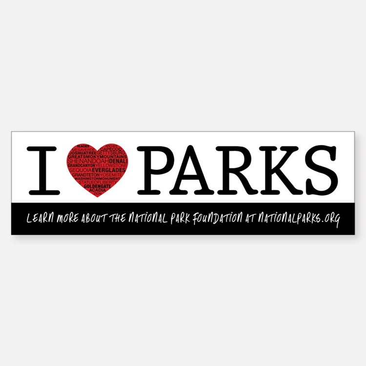 I Heart Parks Sticker (Bumper)
