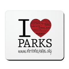 I Heart Parks Mousepad