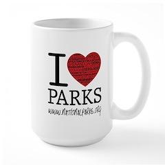 I Heart Parks Mug