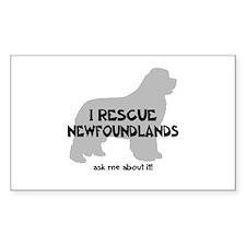 I RESCUE Newfoundlands Decal