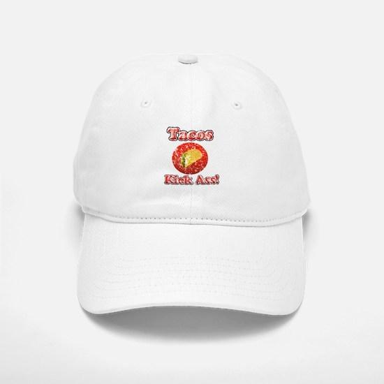 Vintage Tacos Kick Ass Baseball Baseball Cap