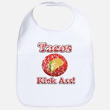 Vintage Tacos Kick Ass Bib