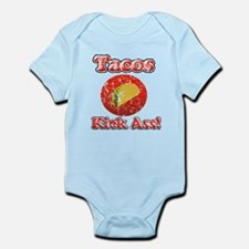 Vintage Tacos Kick Ass Infant Bodysuit