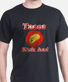 Vintage Tacos Kick Ass T-Shirt