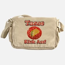 Vintage Tacos Kick Ass Messenger Bag