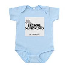 I RESCUE Dachshunds Infant Bodysuit