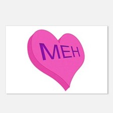 Anti Valentine Candy Meh Postcards (Package of 8)
