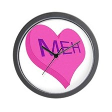 Anti Valentine Candy Meh Wall Clock