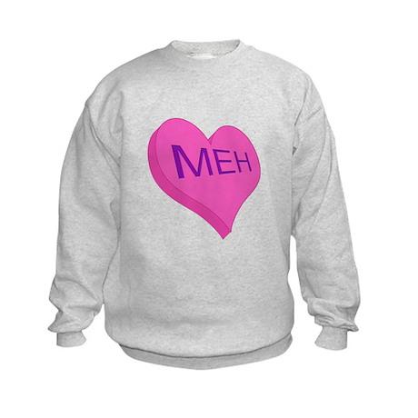 Anti Valentine Candy Meh Kids Sweatshirt