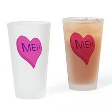 Anti Valentine Candy Meh Drinking Glass