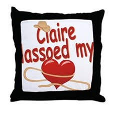 Claire Lassoed My Heart Throw Pillow