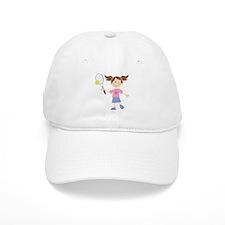 Girls Tennis Player Baseball Cap