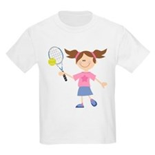 Girls Tennis Player T-Shirt