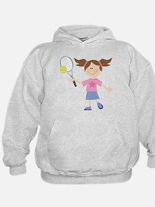 Girls Tennis Player Hoodie