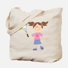 Girls Tennis Player Tote Bag