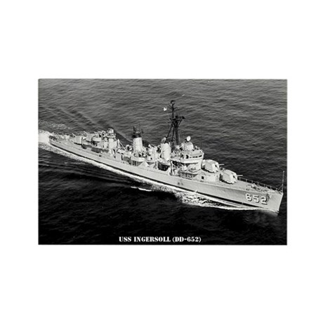 USS INGERSOLL Rectangle Magnet